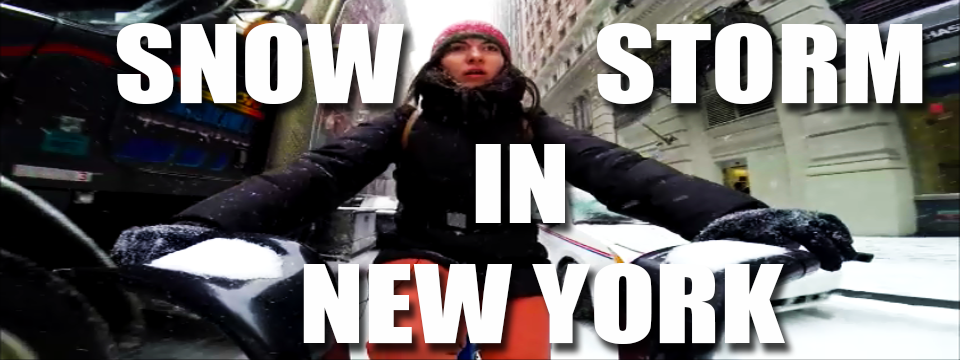 Snow Storm in New York, A Crazy Bike Ride Part 1