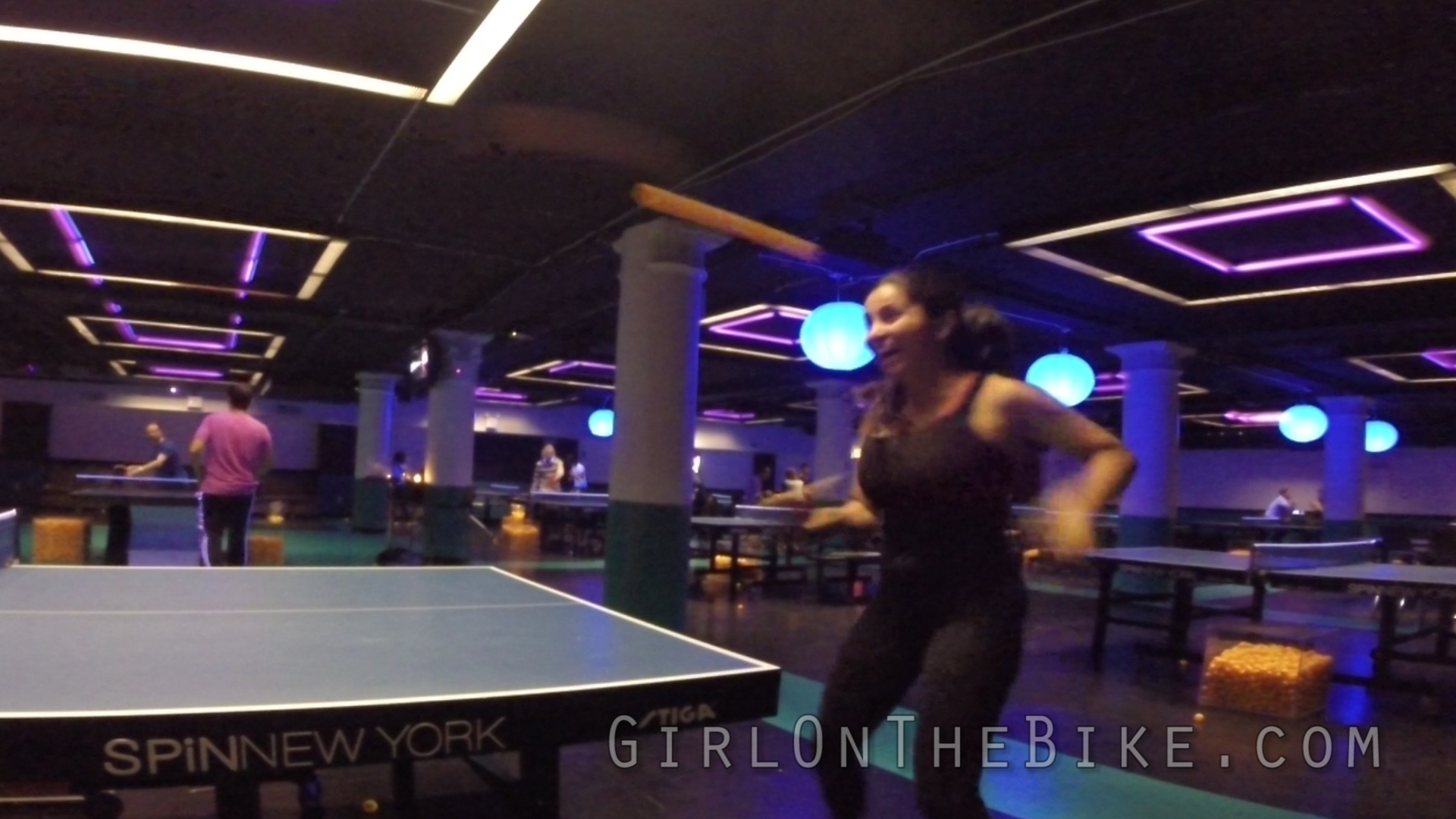 If Girl On The Bike Plays PingPong…