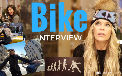 Interview on the Bike with @AmberMeetsWorld in NYC :)