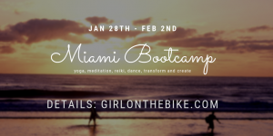 Visiting Miami Bootcamp, Girl on the bike
