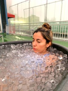 Ice bath nyc, Wim Hof ice bath, wim hof breathing, wim hof nyc, girl on the bike 2